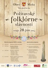 Plagát - Požitavské folklórne slávnosti - web